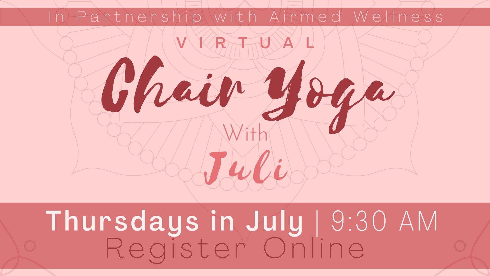 Chair Yoga with Juli (Virtual)