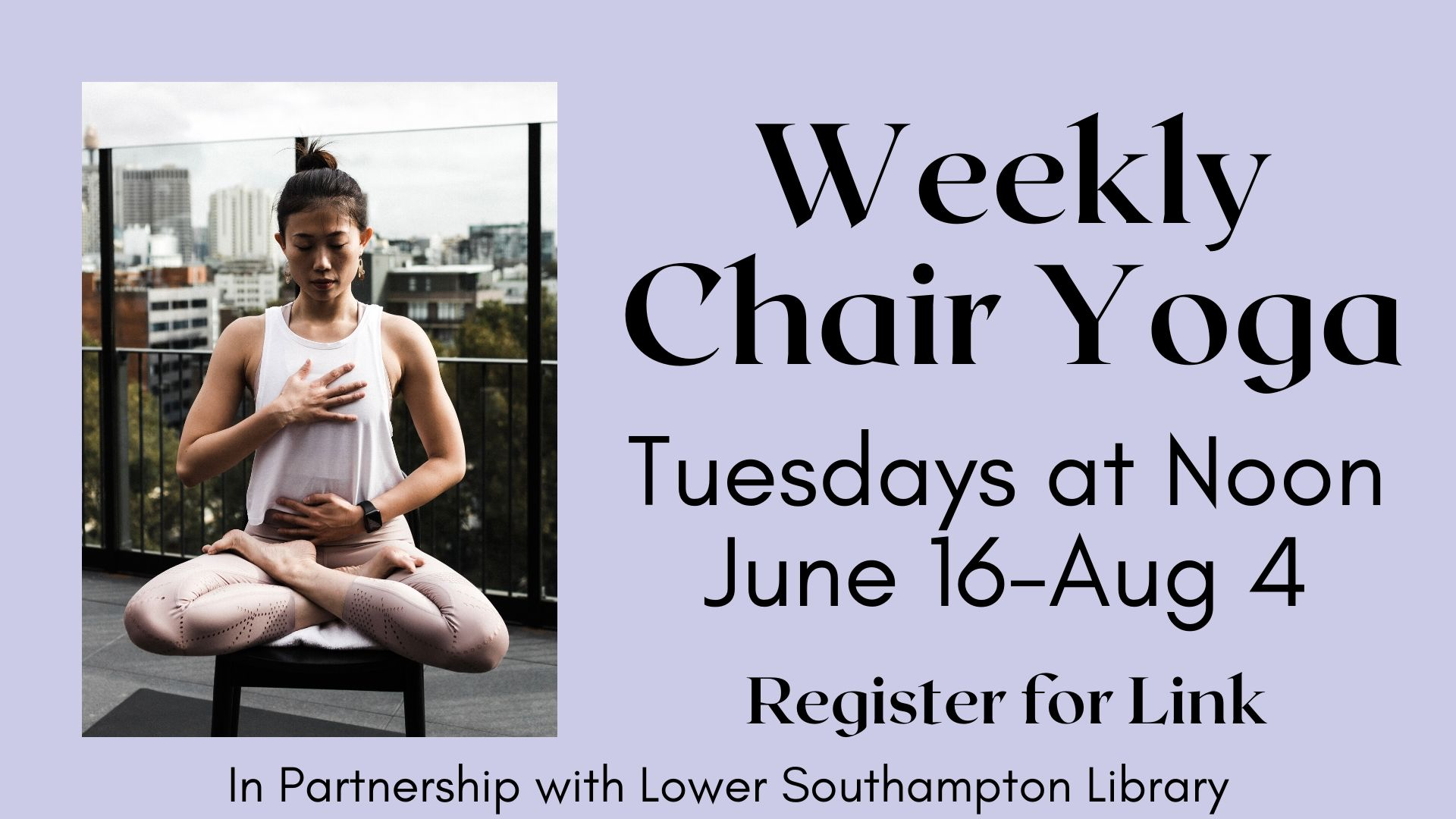 Virtual Chair Yoga with Elda (8 week session)
