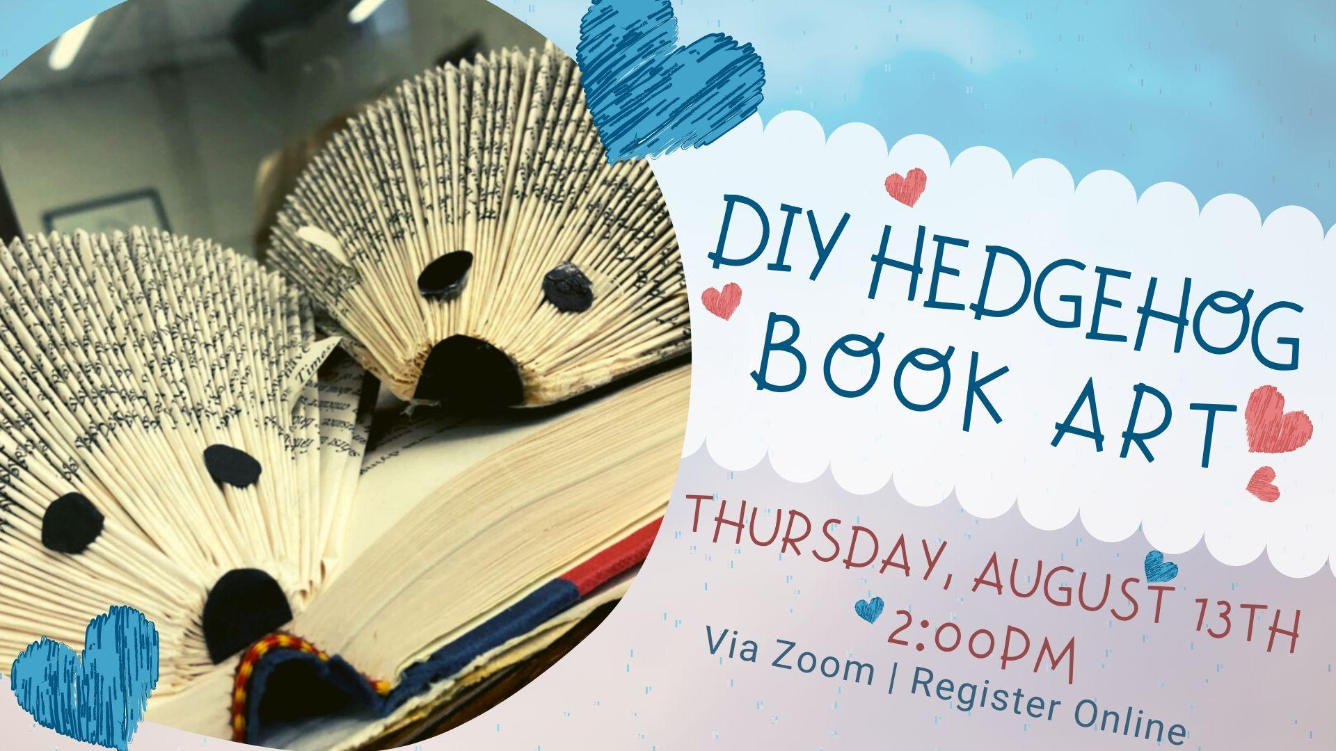Virtual DIY: Hedgehog Book Art