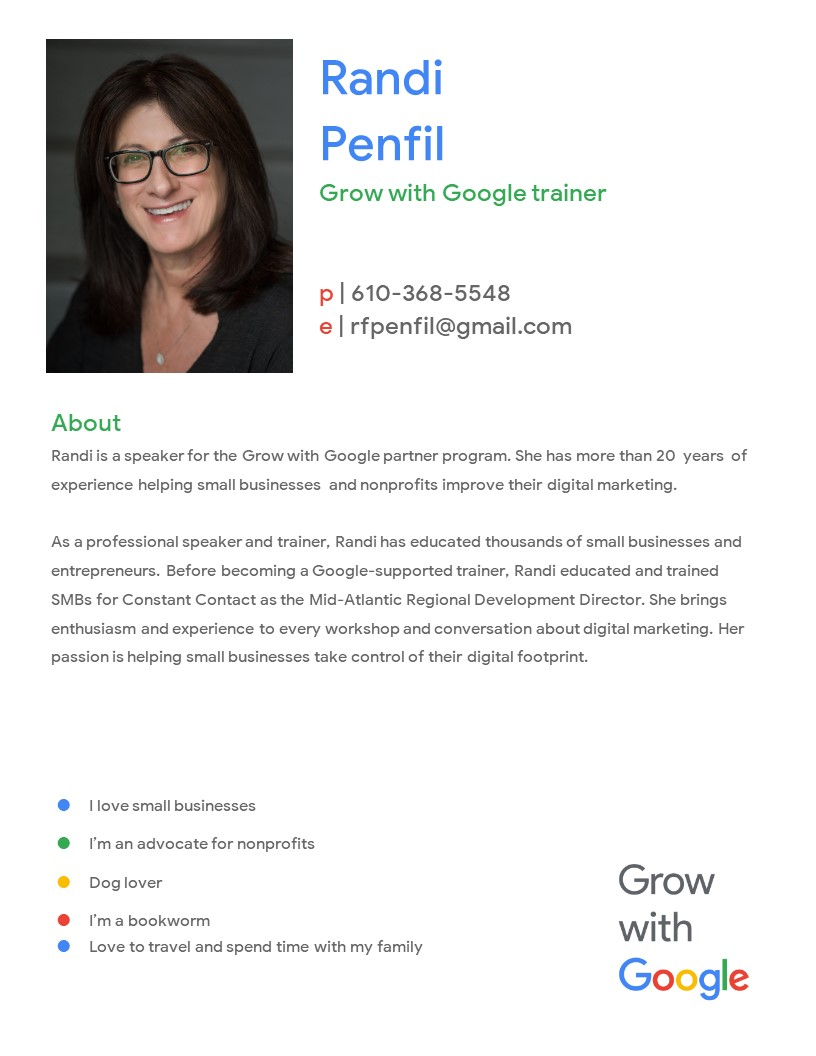 "Virtual Webinar ""Make Your Website Work For You"" with Randi Penfil"