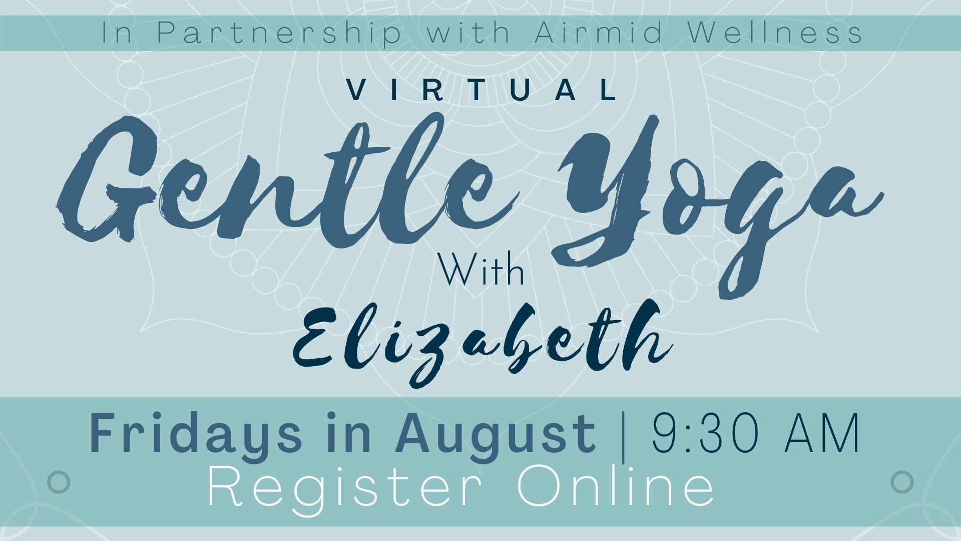 Virtual Gentle Yoga with Elizabeth