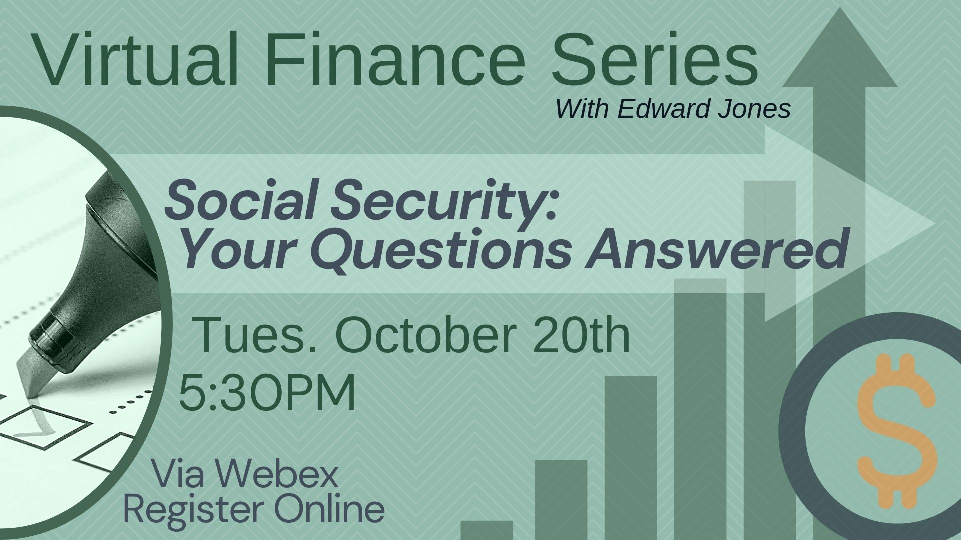 Virtual Finance Series: Social Security: Your Questions Answered