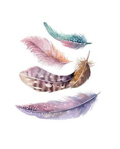 Autumn Art Series: Watercolor Feathers