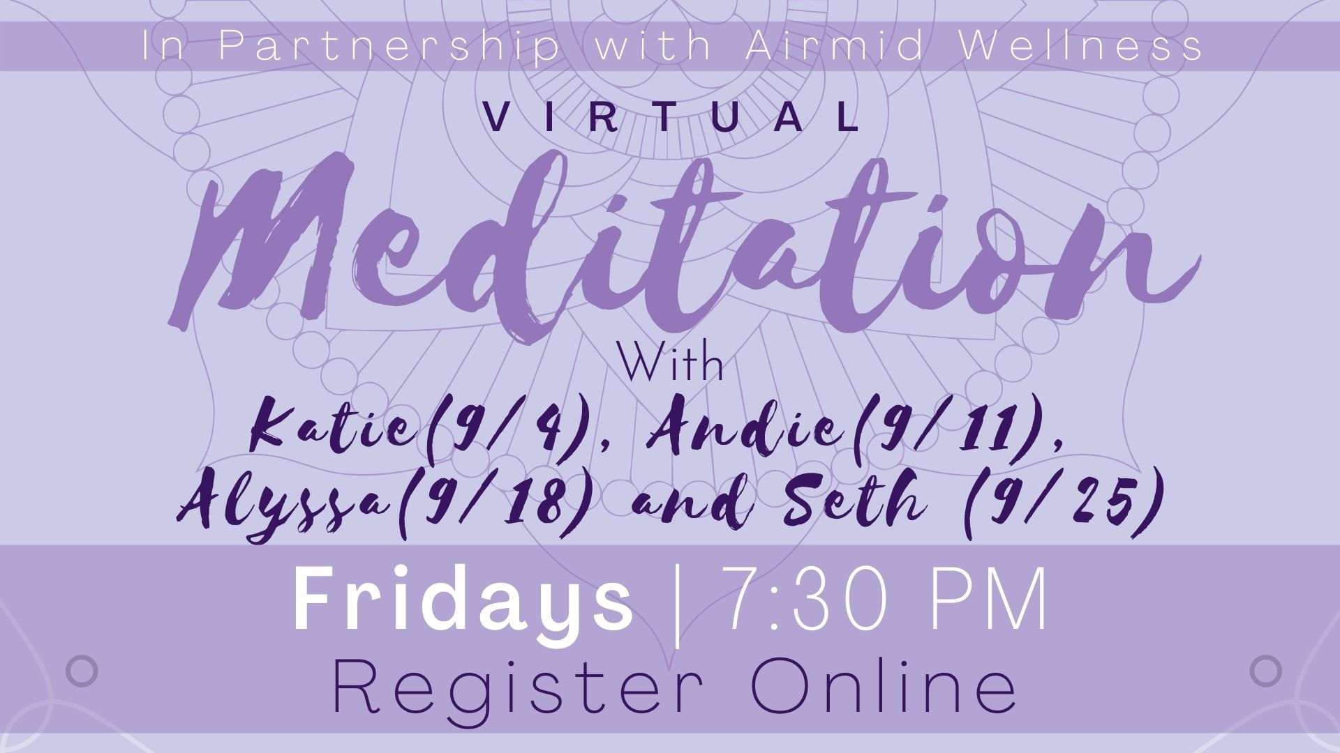 (Virtual) Meditation Class
