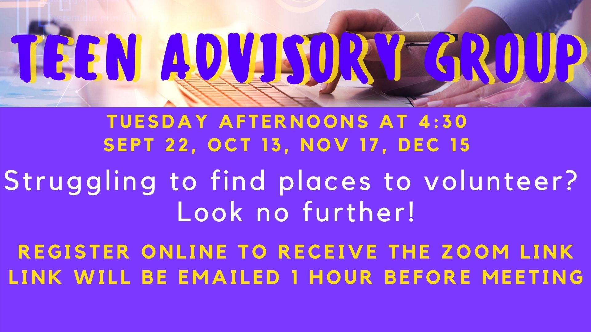 Virtual Teen Advisory Group