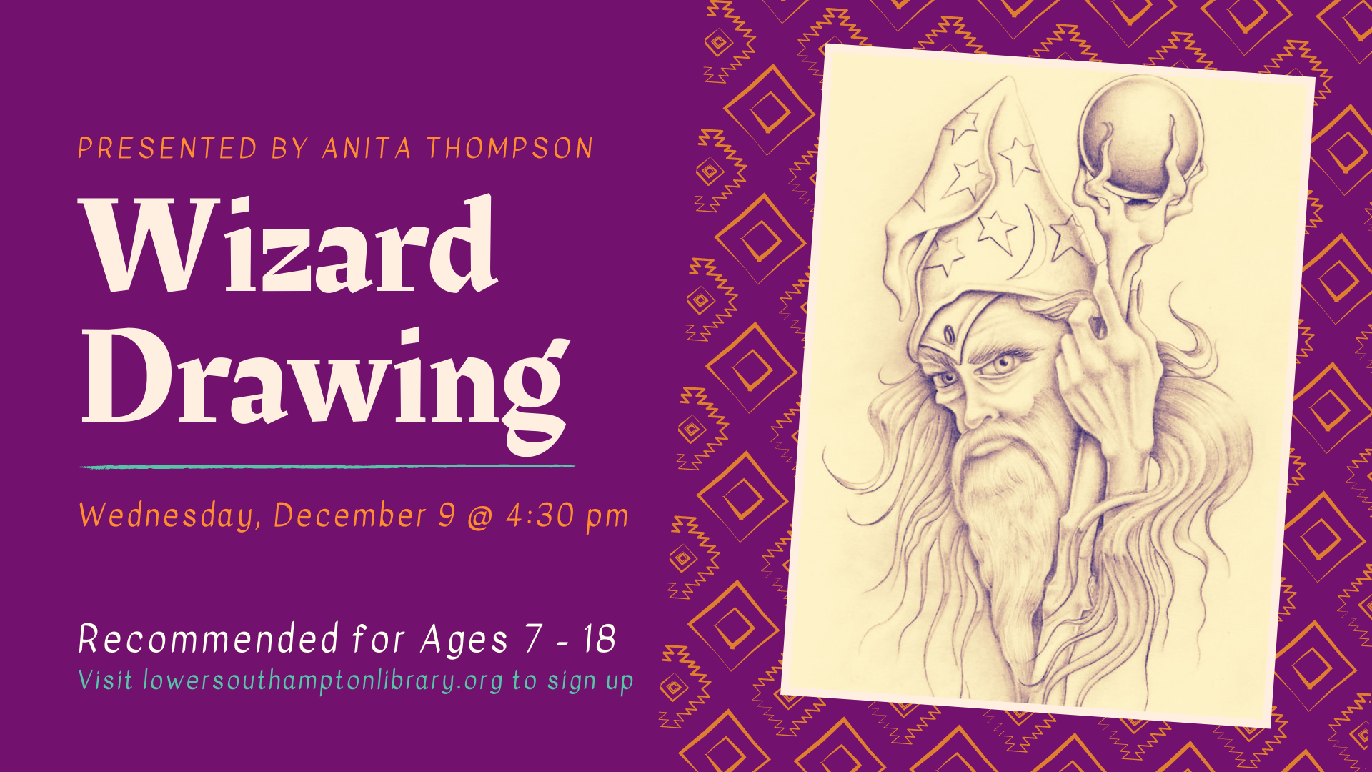 Wizard Drawing Workshop | Ages 7 - 18