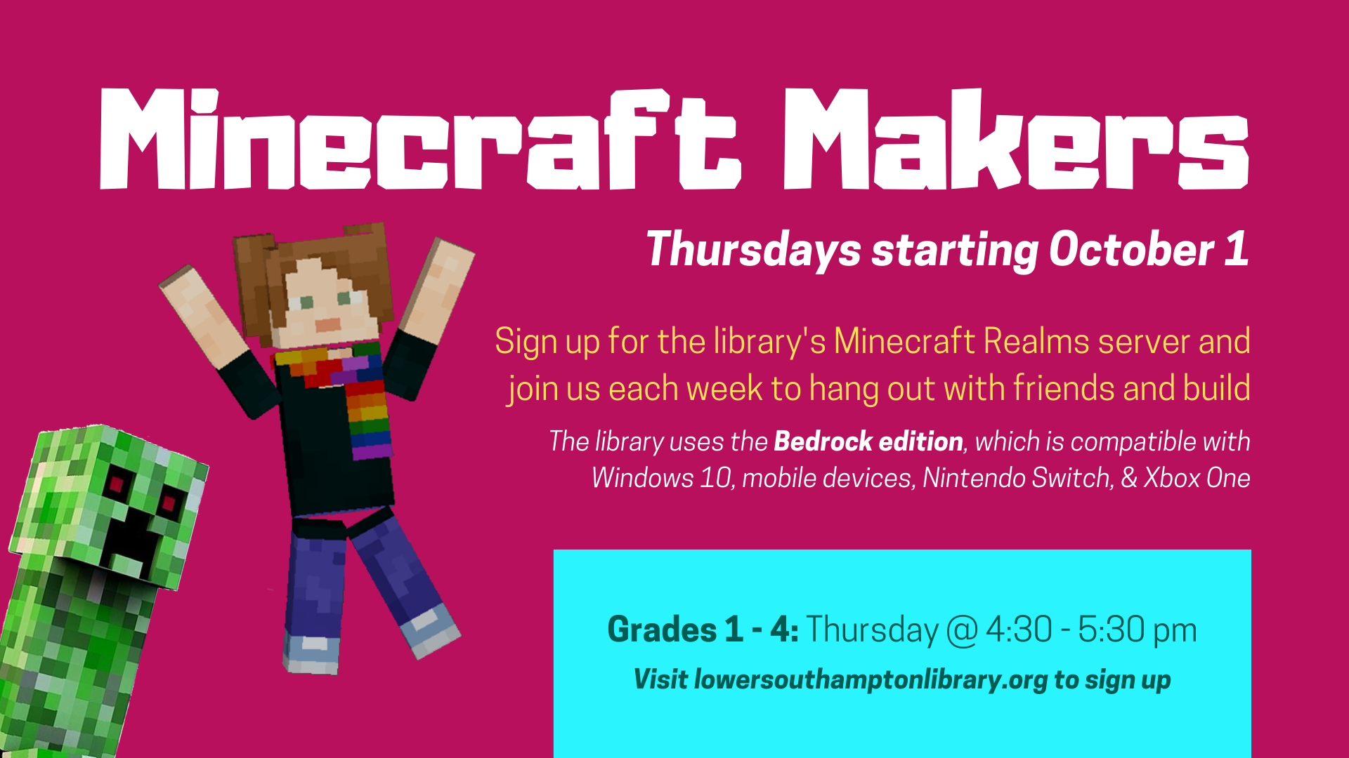 Minecraft Makers | Grades 1 - 4