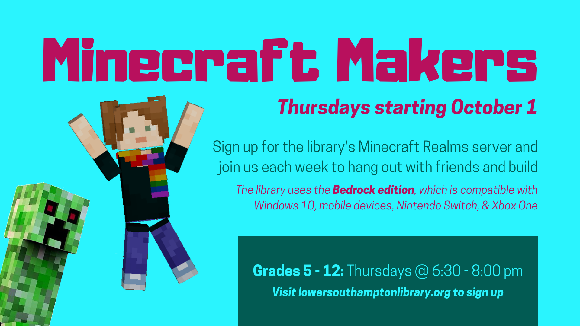 Minecraft Makers | Grades 5 - 12