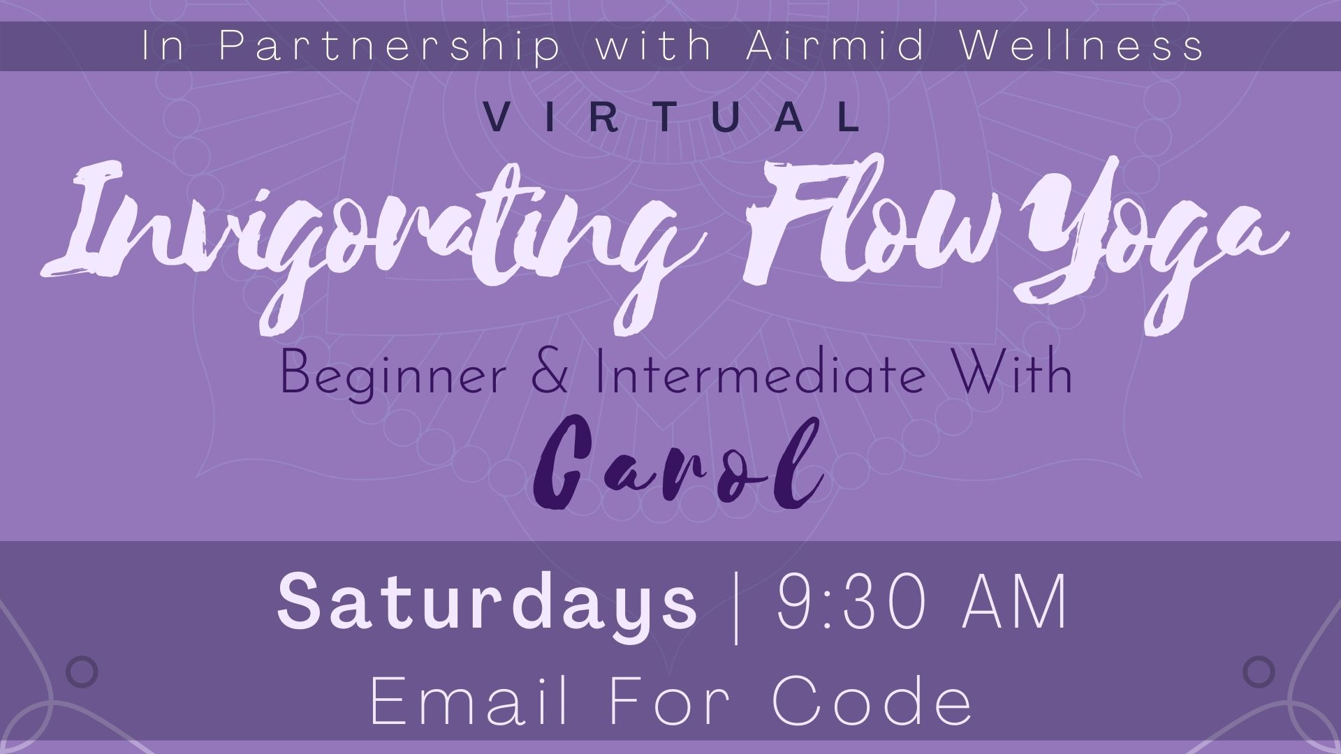 Invigorating Flow Yoga for Beginners & Intermediate with Carol