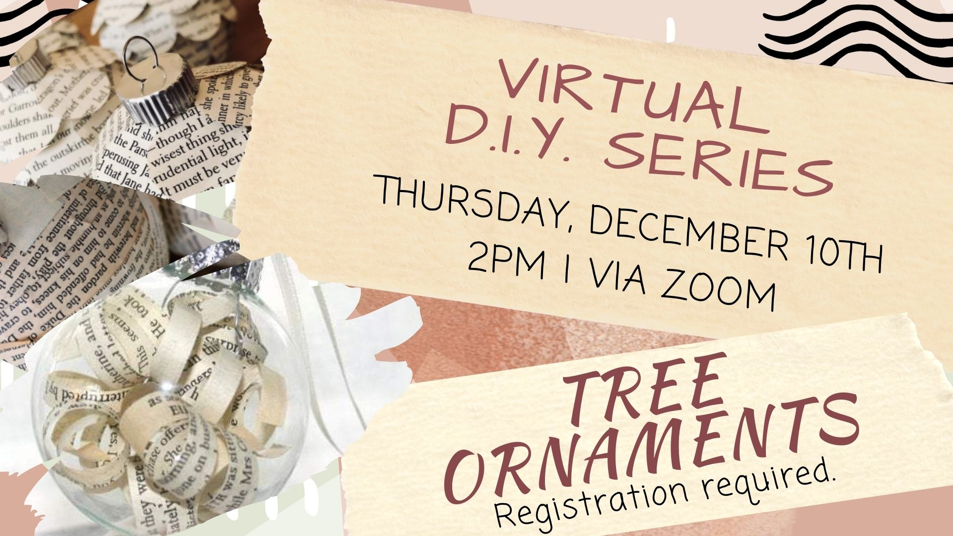 Virtual DIY Series: Tree Ornaments