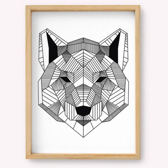 Activities in the Morning:  Geometric Wolf Drawing