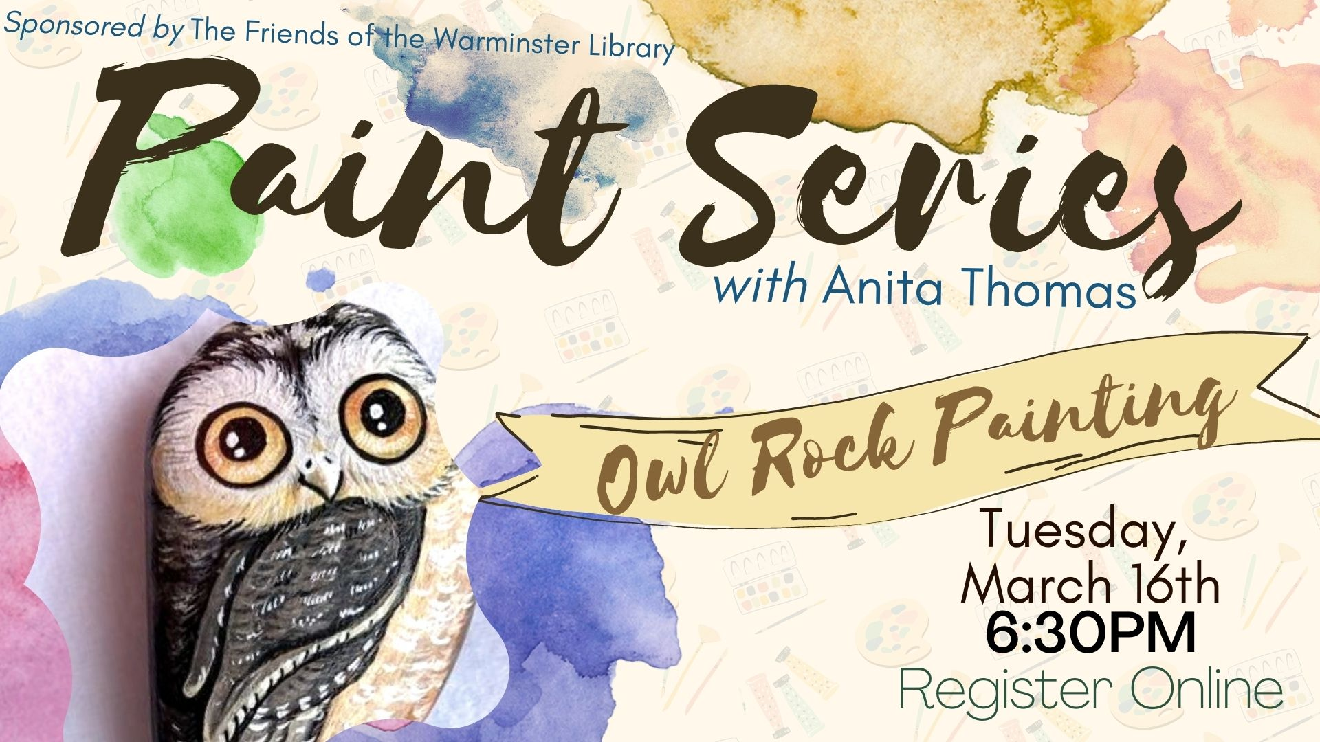 Painting Series: Owl Rock Painting
