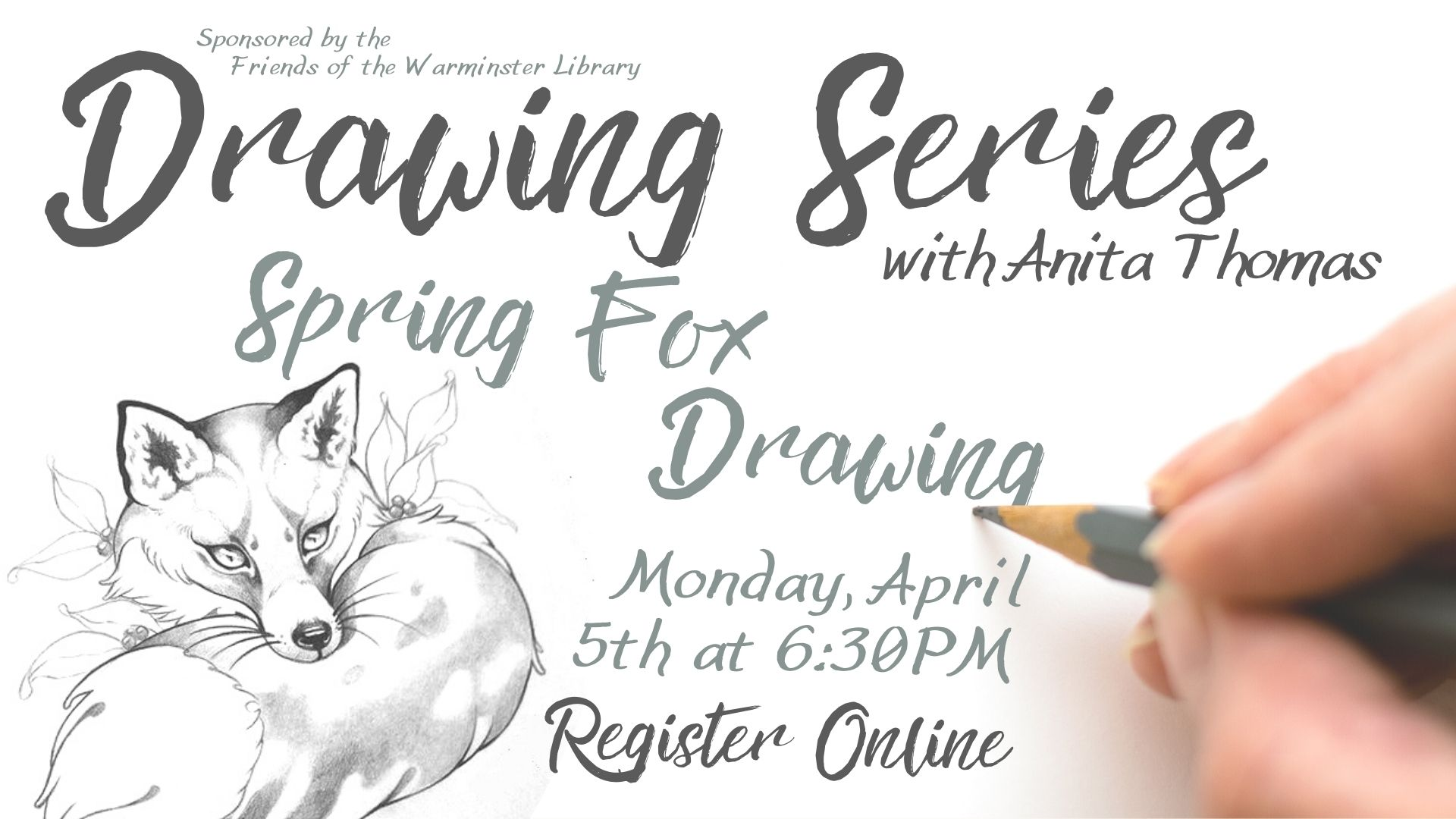 Drawing Series: Spring Fox Drawing