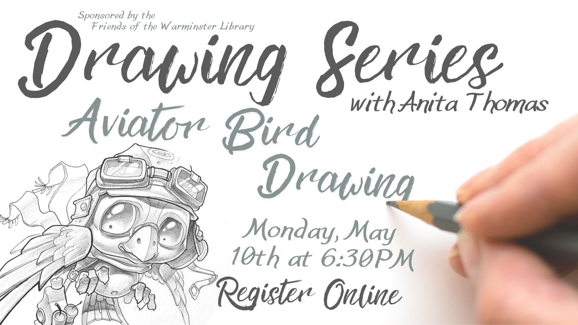 Drawing Series: Aviator Bird Drawing