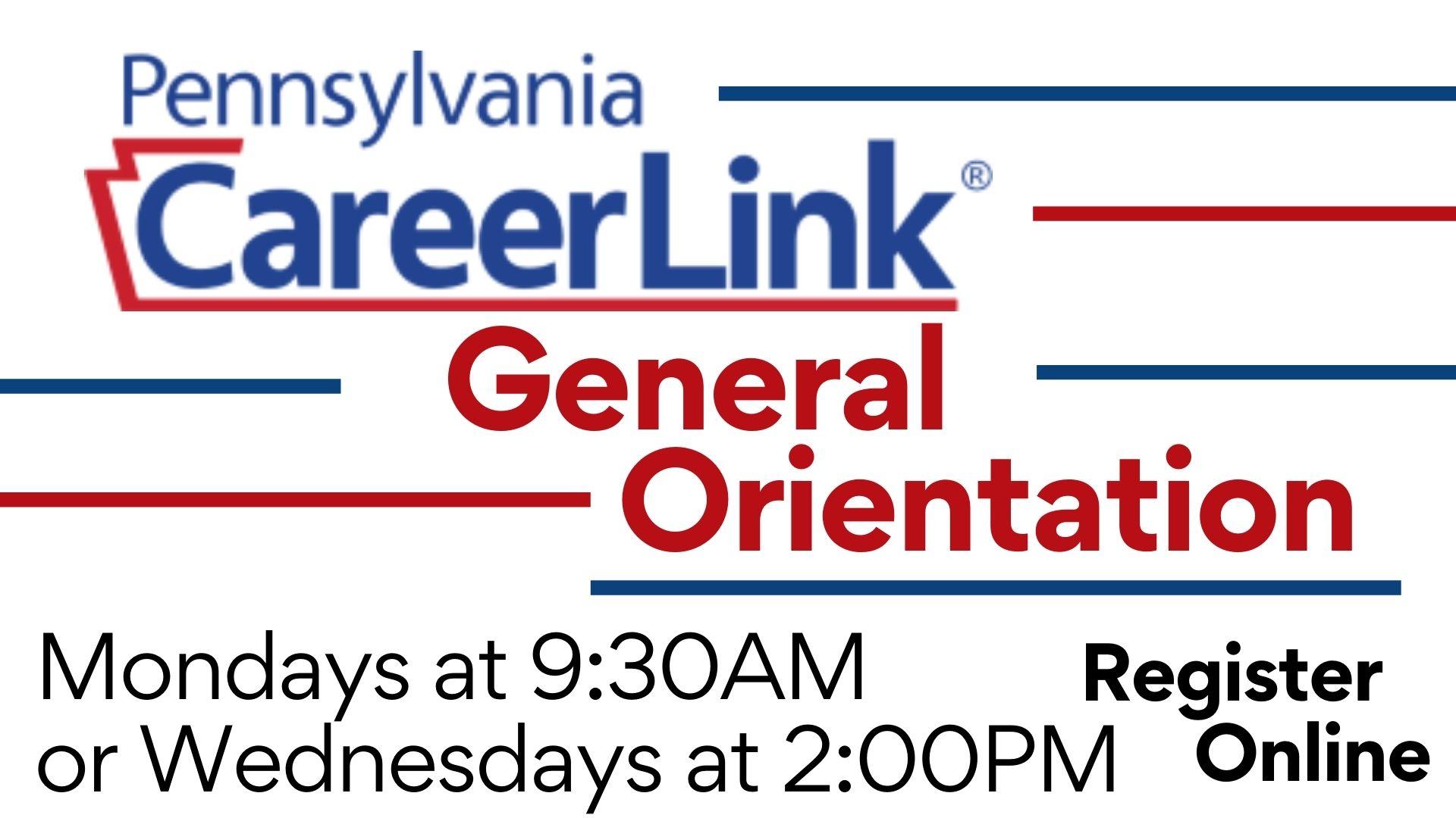 PA CareerLink: Virtual General Orientation