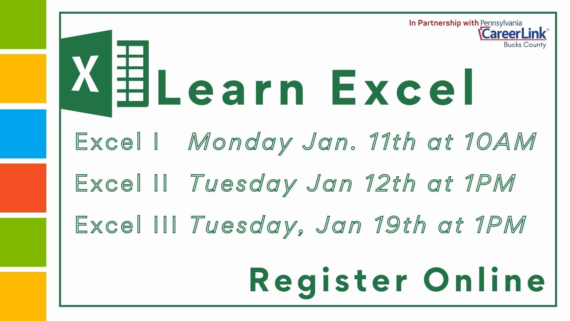 PA CareerLink: Learning Excel III