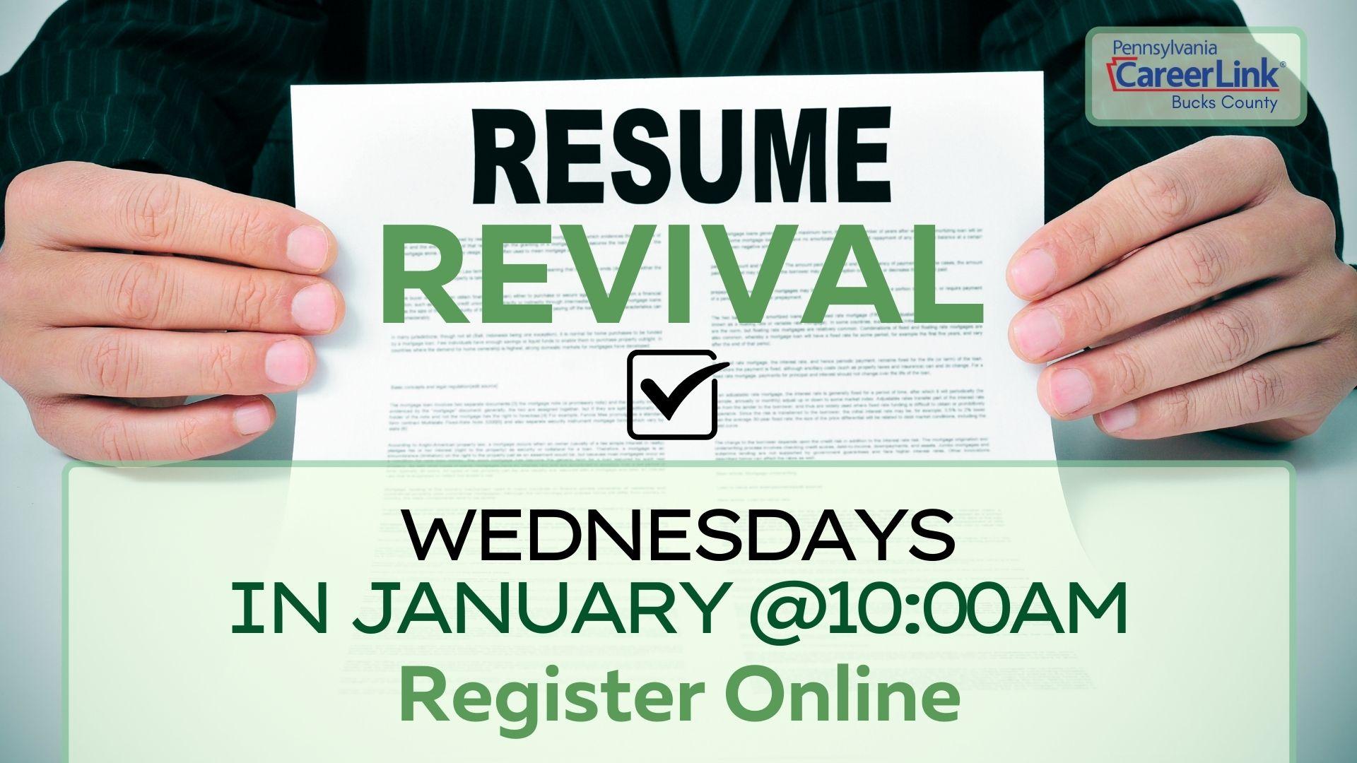 PA CareerLink: Virtual Resume Revival