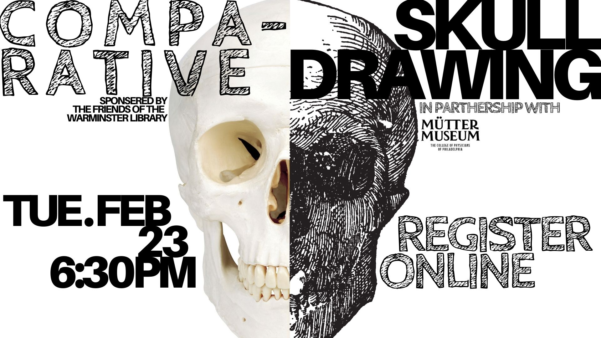 Mutter Museum Presents:  Comparative Skull Drawing