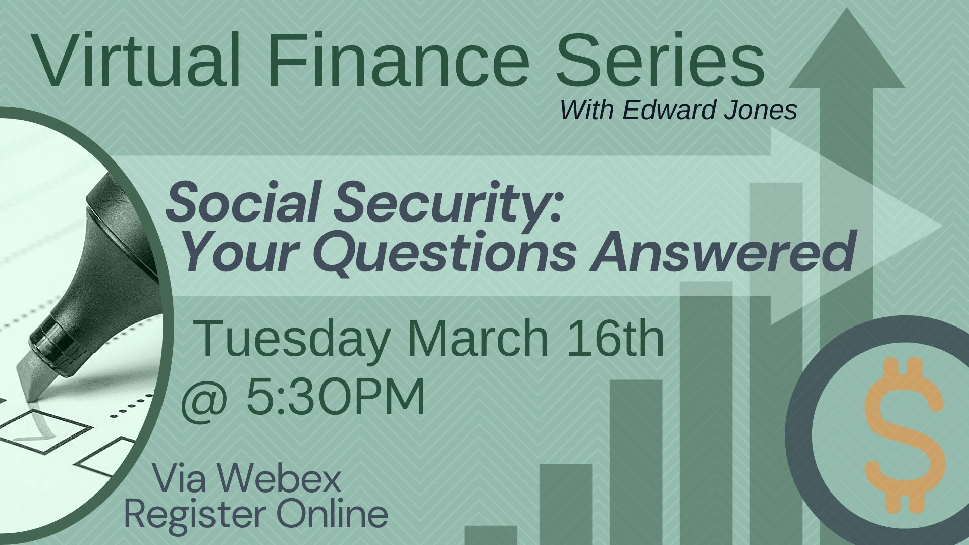 Virtual Finance Series: Social Security - Your Questions Answered