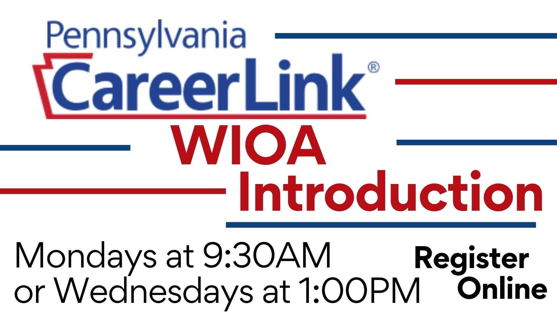 PA CareerLink: WIOA Introduction