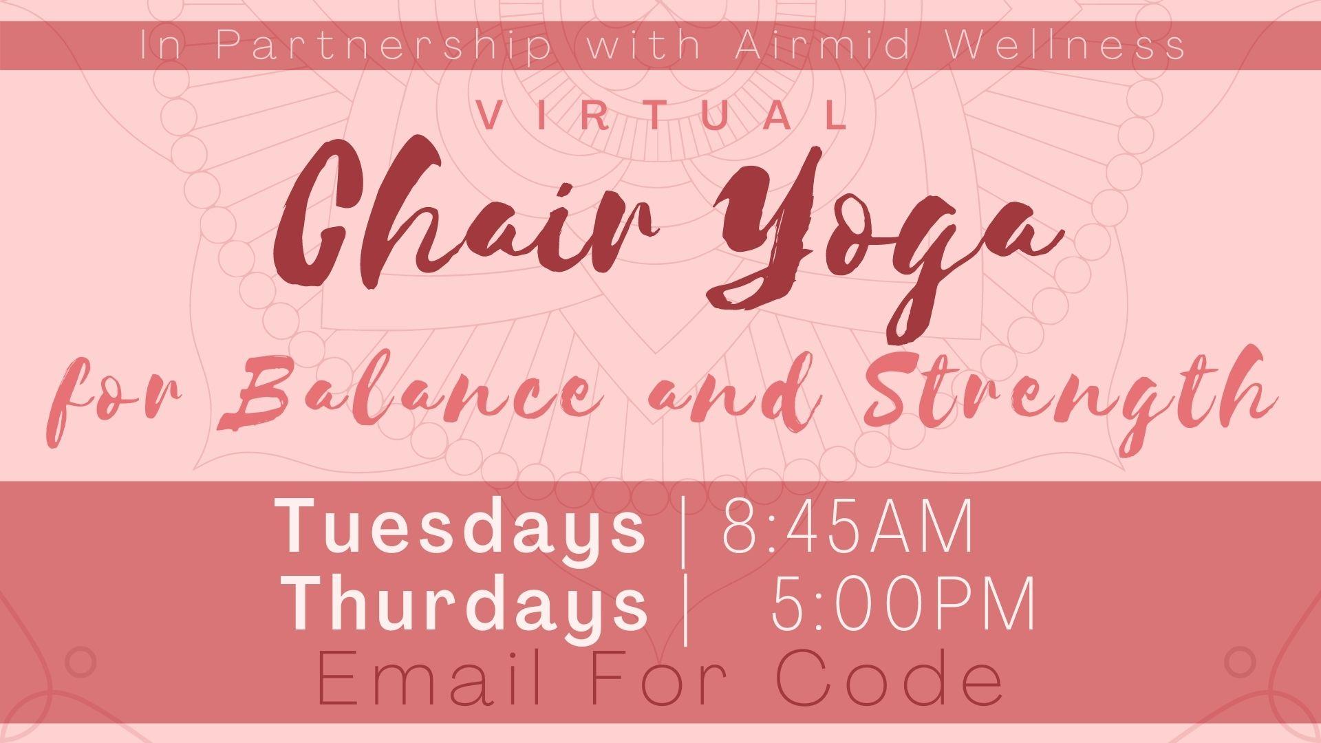 Chair Yoga for Balance and Strength
