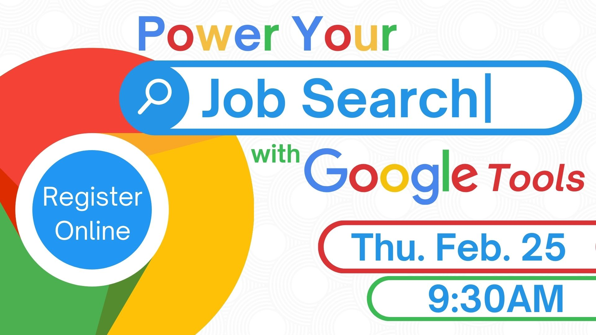 Grow with Google - Power Your Job Search with Google Tools