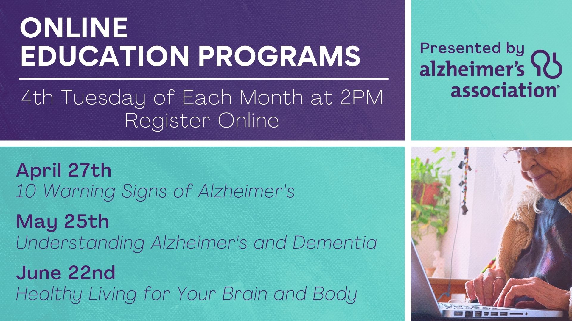 Online Education Programs with the Alzheimer's Association