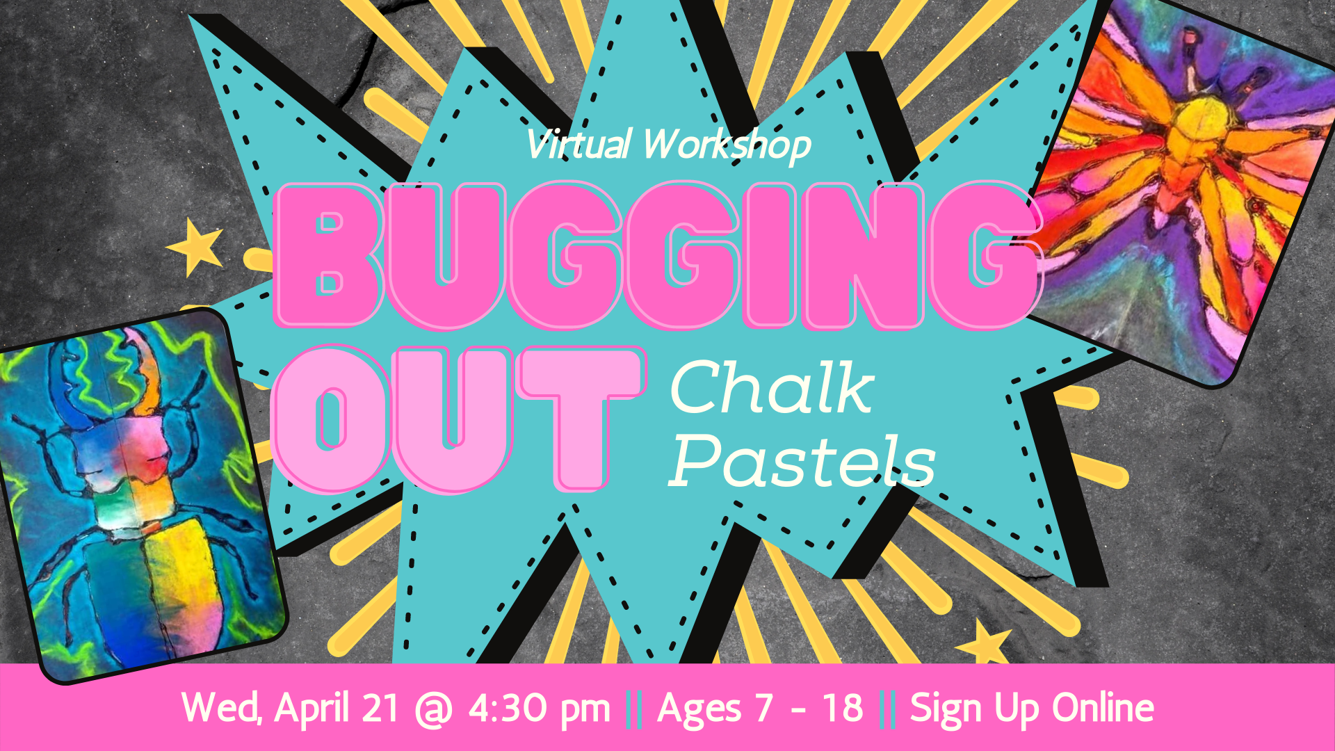Bugging Out Chalk Pastels
