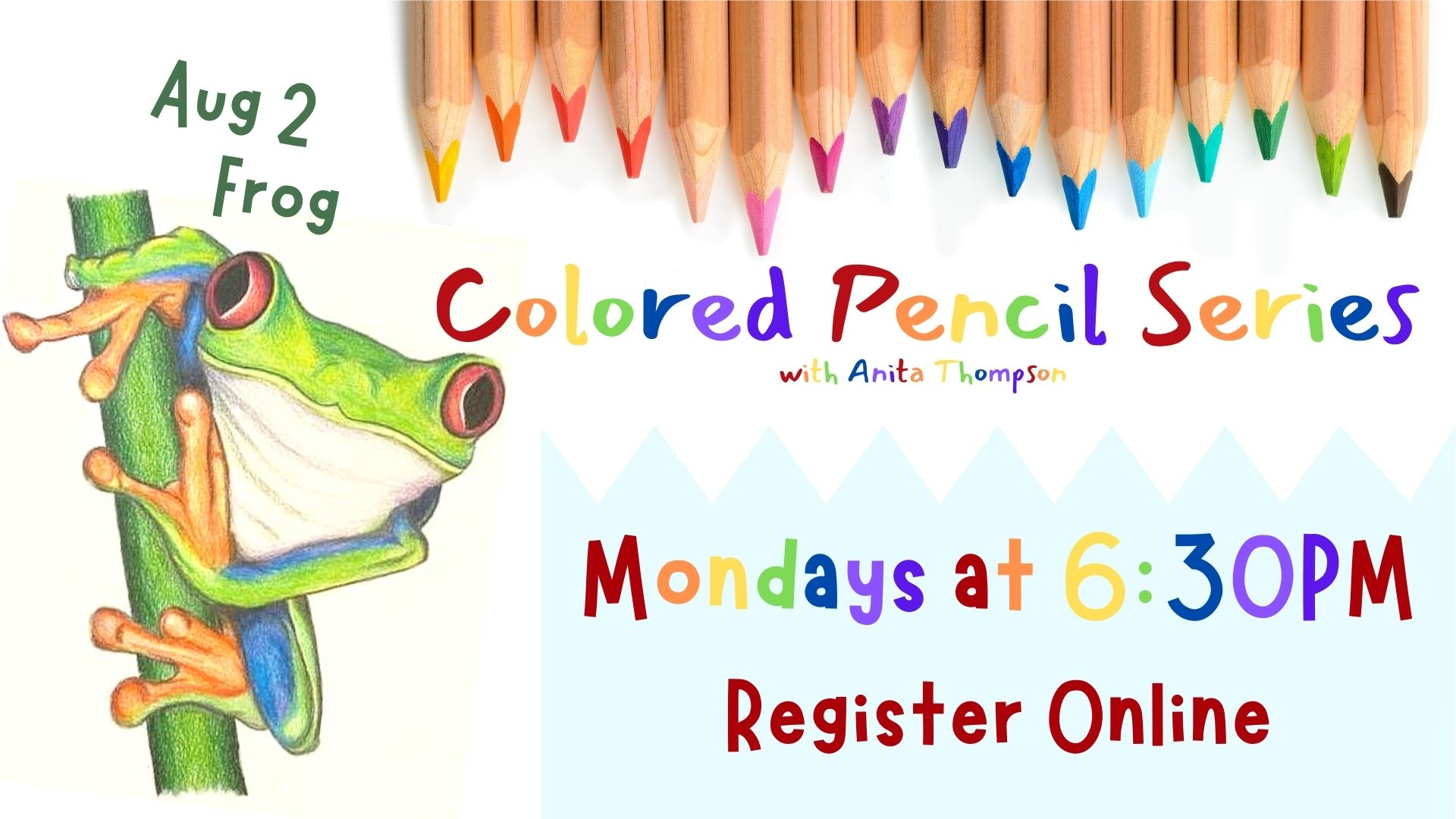 Colored Pencil Series: Frog
