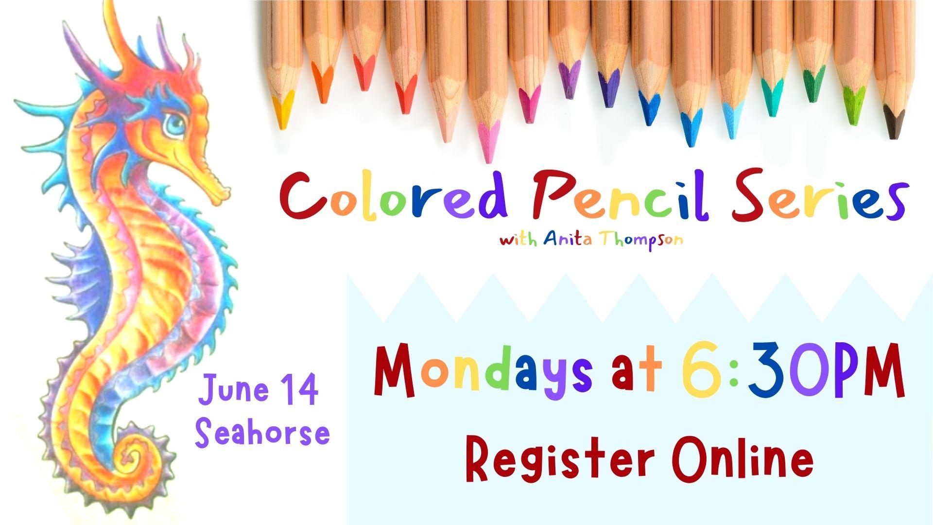 Colored Pencil Series: Seahorse (online)
