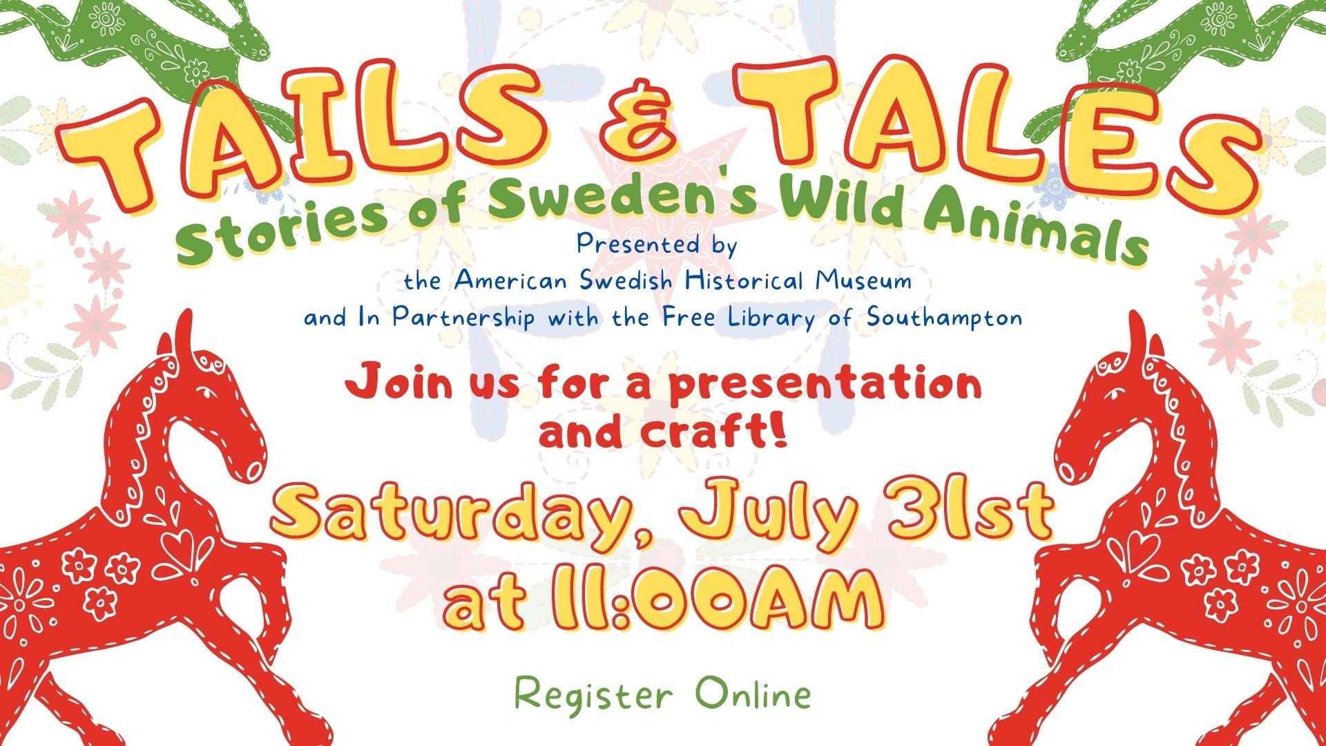 Tales & Tails: Stories of Sweden's Wild Animals (Zoom +Craft)