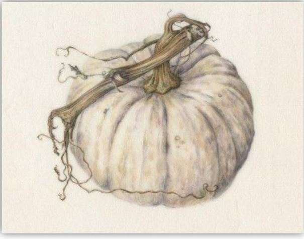 VIRTUAL ART: COLORED PENCIL PUMPKIN