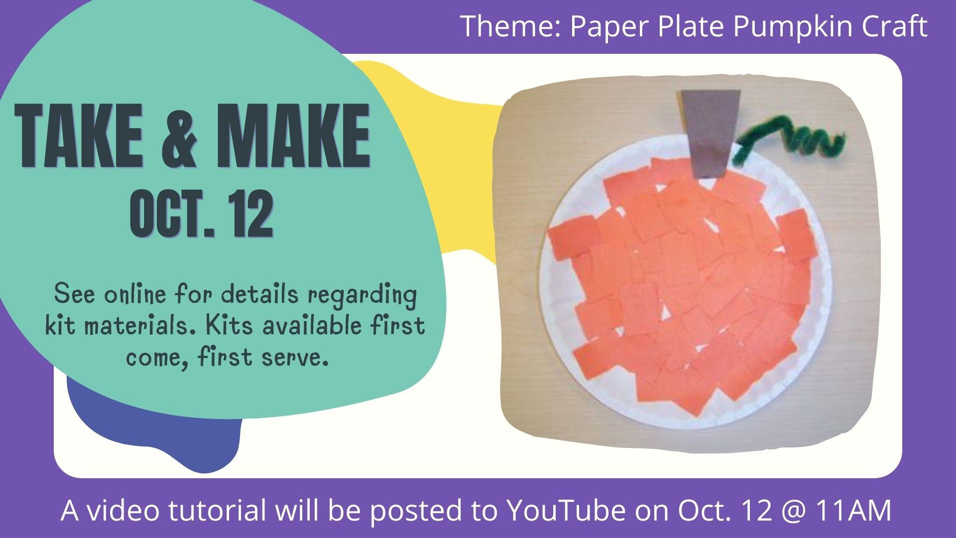 Fall Take and Make- Pumpkin Craft