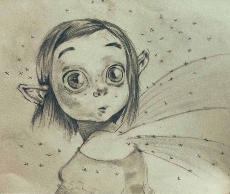 Whimsical Art Series: Fairy Drawing