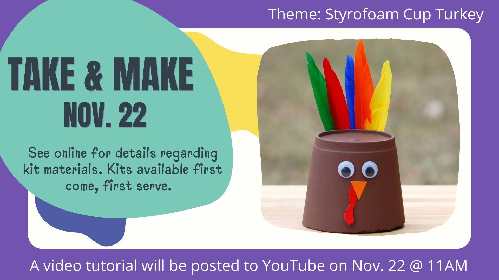 Fall Take and Make- Turkey Craft