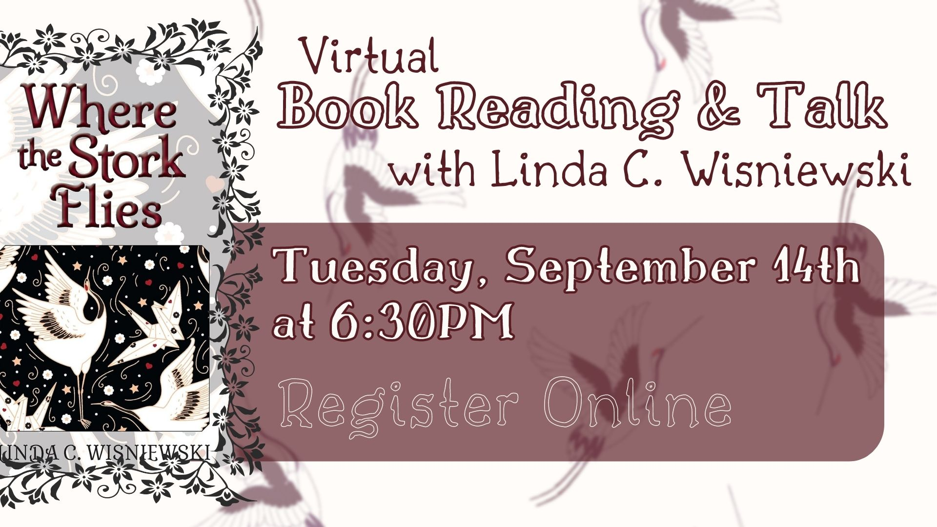 Virtual Meet the Author - Linda Wisniewski - Book Reading and Discussion
