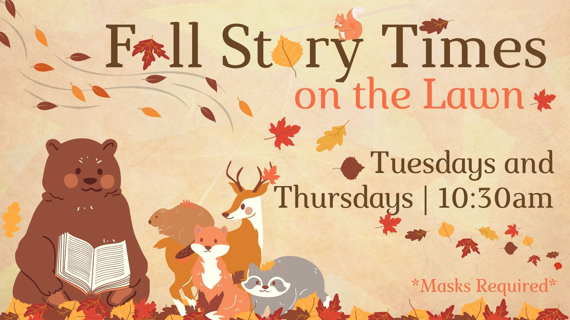 Fall Story Time on the Lawn
