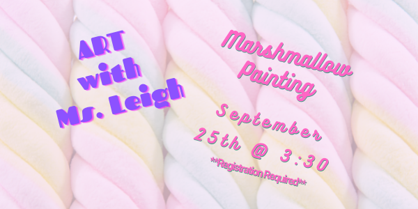Art with Ms. Leigh- Marshmallow Painting