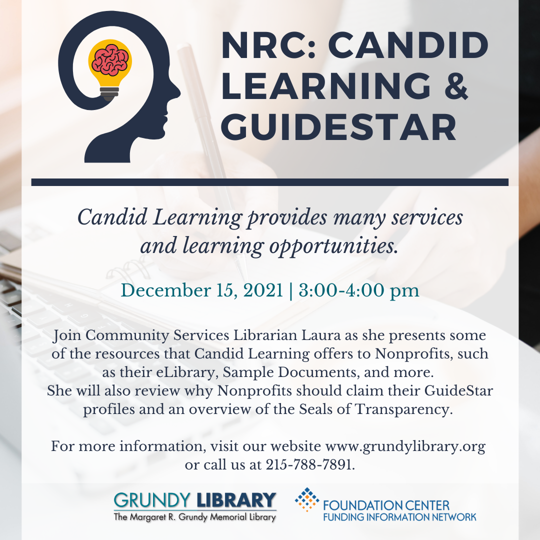 NRC: Candid Learning & GuideStar Overview