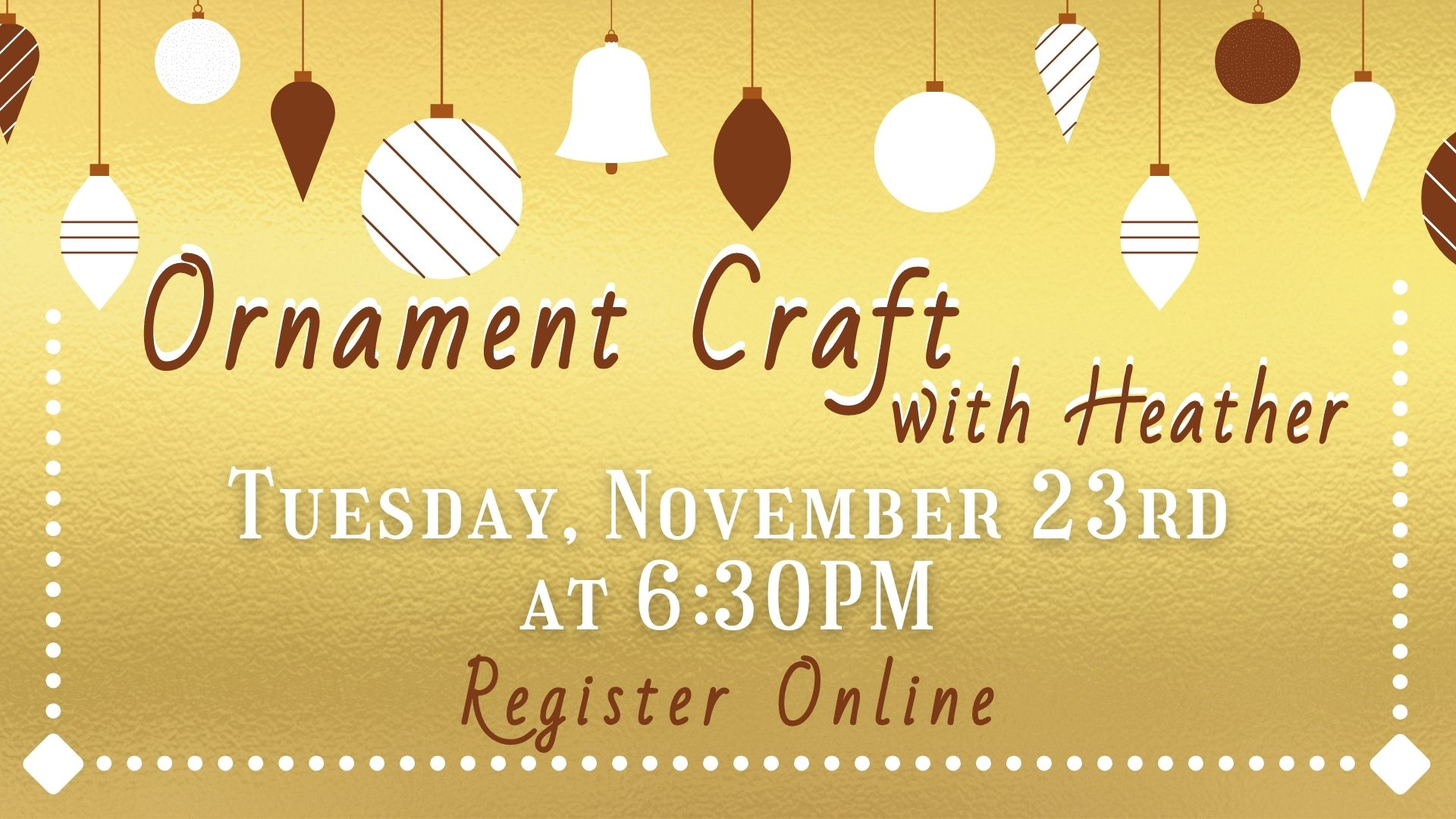 Ornament Craft with Heather