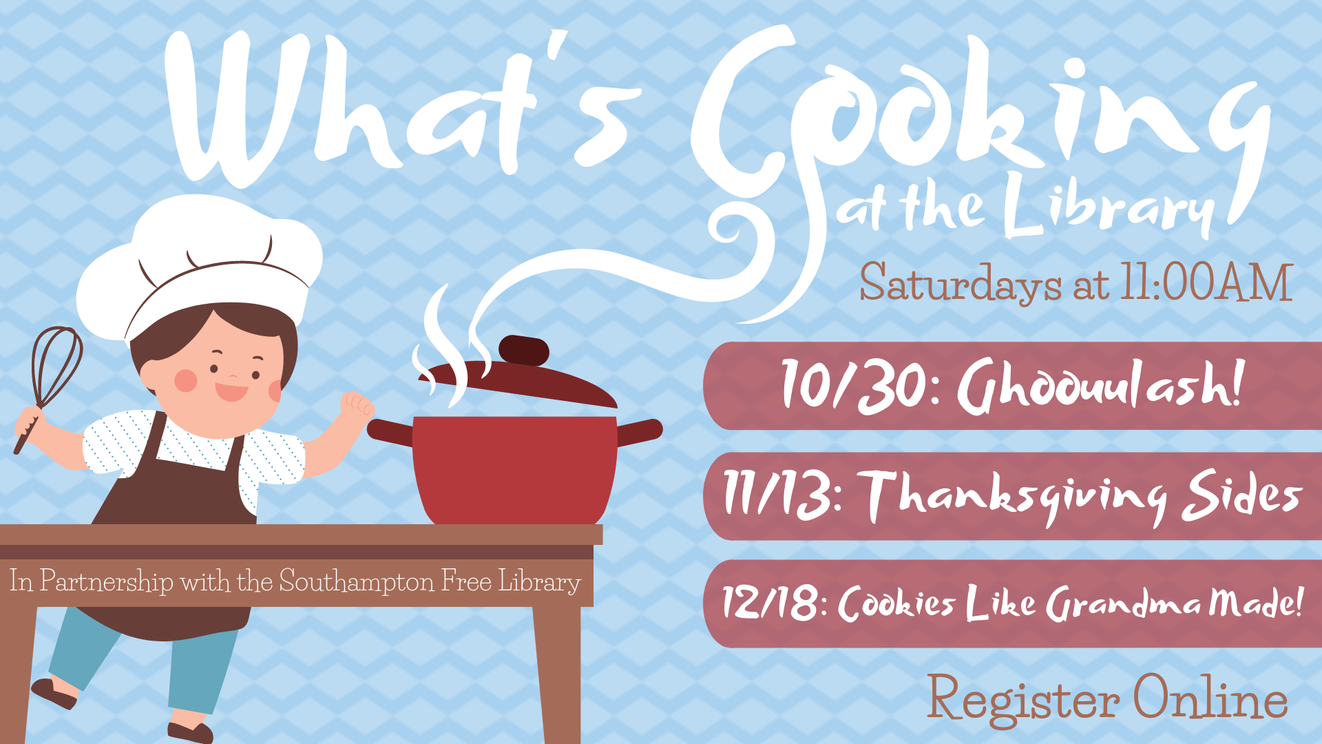 (Virtual) What's Cooking at the Library: Thanksgiving Sides