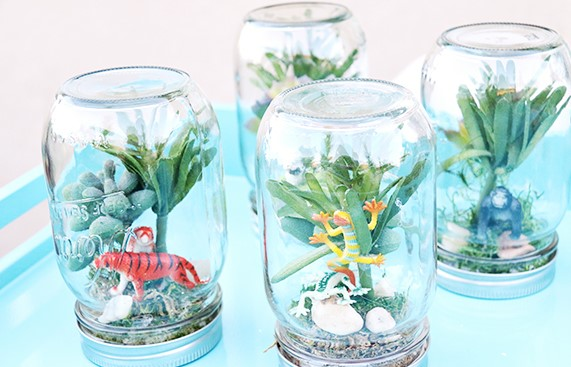 Earth Day Rainforest in a Jar Craft