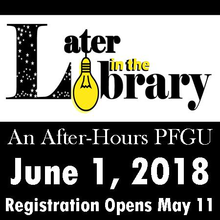 (Later) In the Library [A 21&up Event]