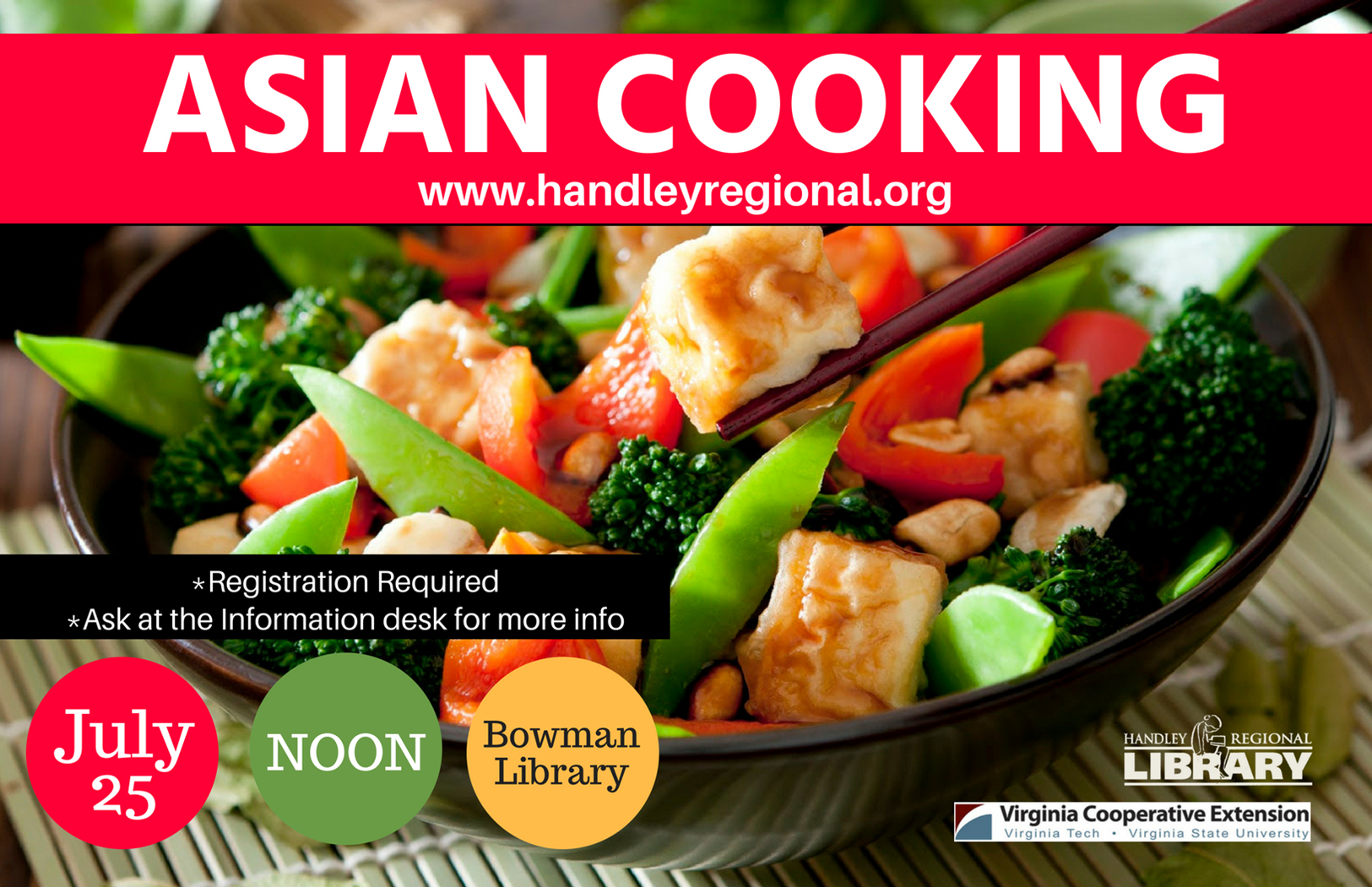 Lunch & Learn workshop: Asian Cooking