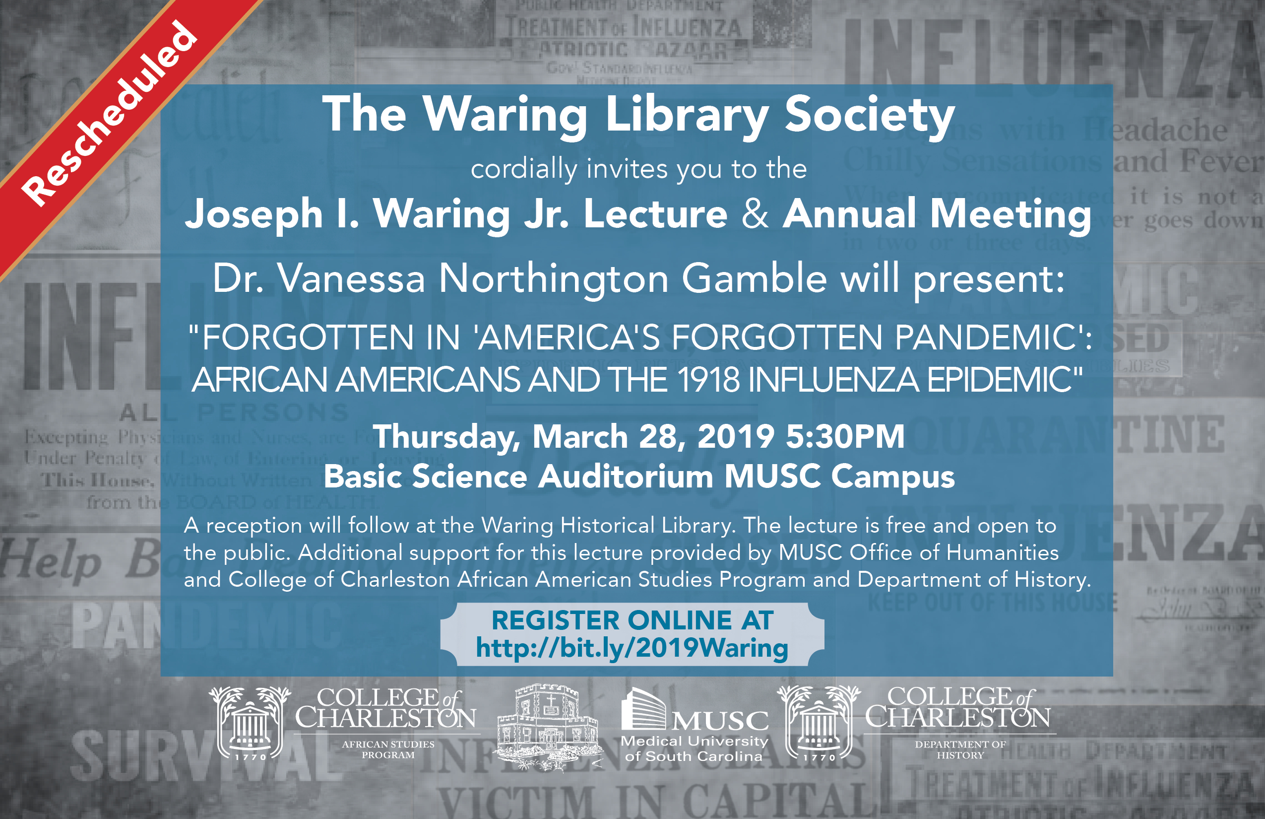 Joseph I. Waring Jr. Lecture & Reception