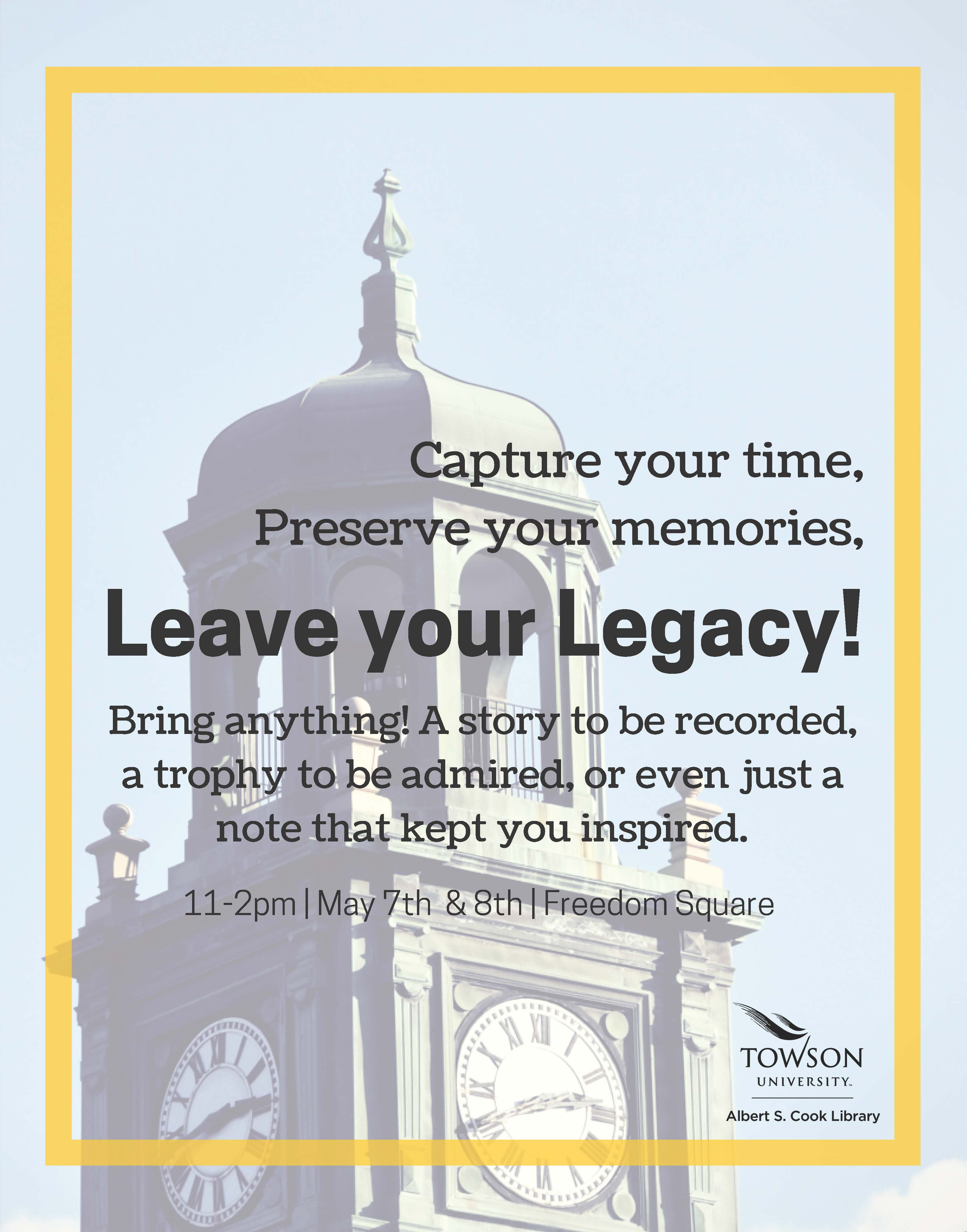 Leave your Legacy Time Capsule Event
