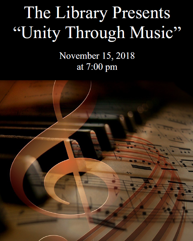 "The Library Presents "" Unity Through Music"""