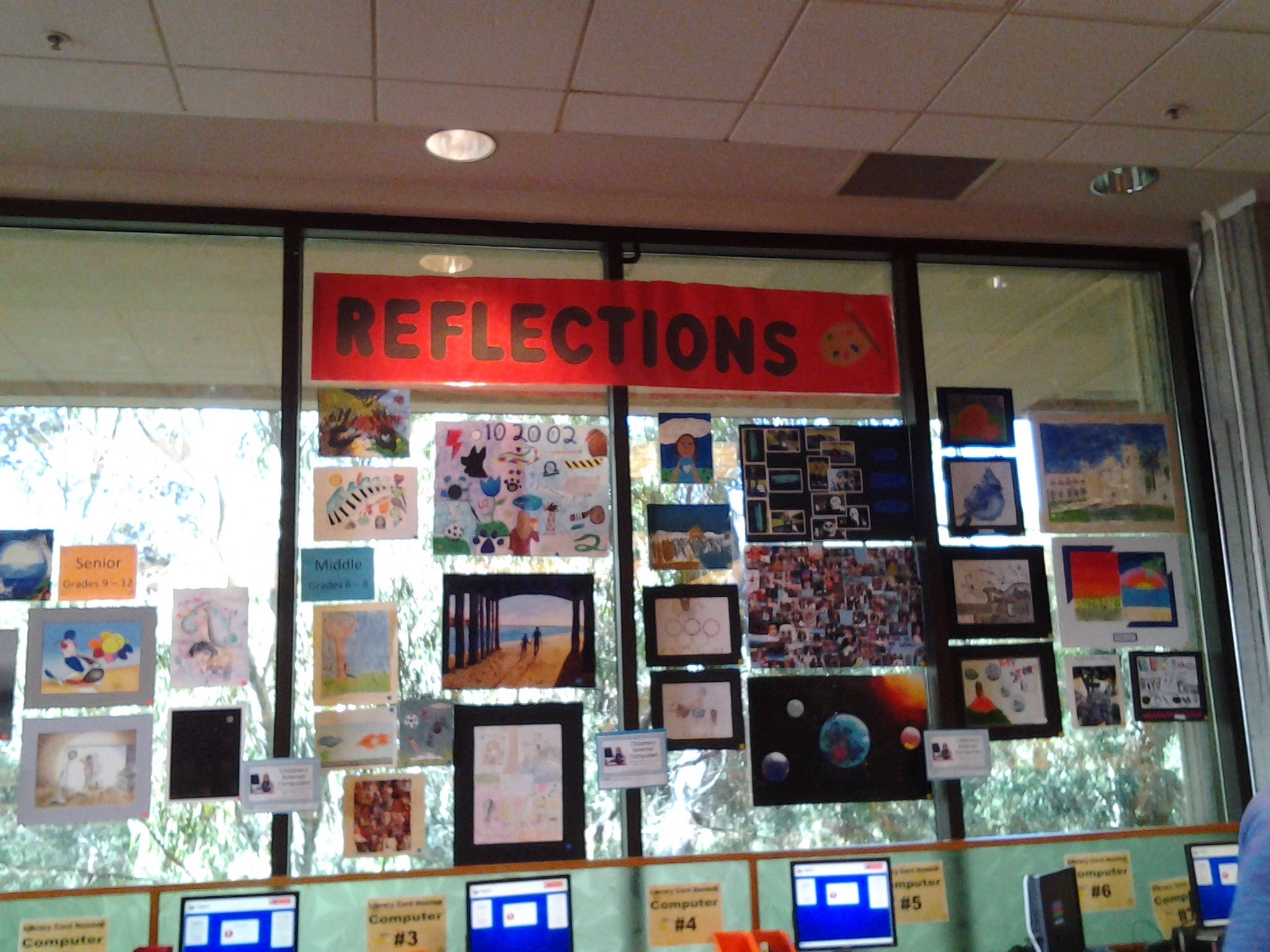 Reflections Entries on Display