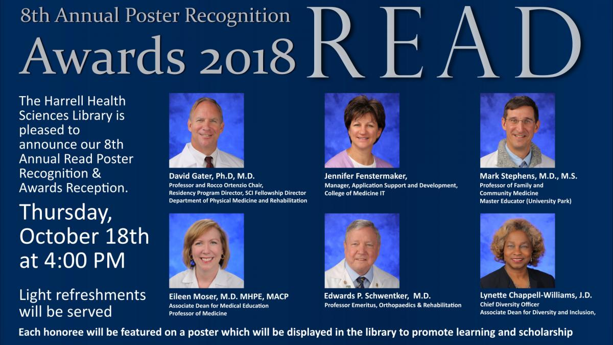Annual READ Poster Recognition Award