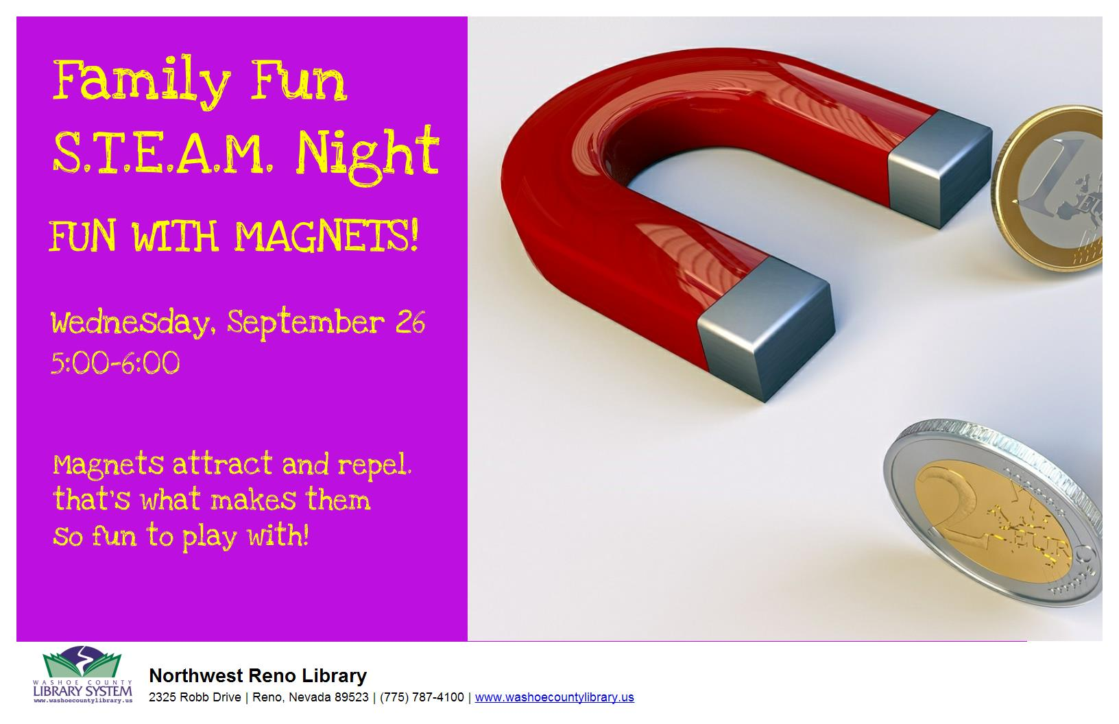 Family Fun Night: STEAM POWER - Fun with Magnets